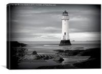 Perch Rock Lighthouse. , Canvas Print