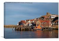 East Cliff Whitby., Canvas Print