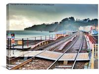 Dawlish Railway rebuilt., Canvas Print