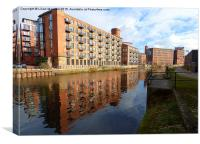 Clarence Dock. Leeds., Canvas Print