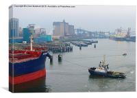 Foggy Europort. Rotterdam  , Canvas Print
