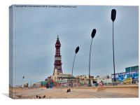 Blackpool Promenade. , Canvas Print