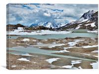 Bernina Pass and Glaciers, Canvas Print