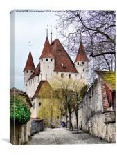 Schloss Thun- Thun Castle., Canvas Print