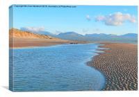 Newborough Beach. Anglesey., Canvas Print