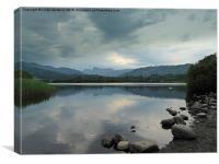 Elterwater Lake. , Canvas Print