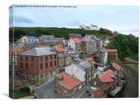 Staithes Harbour., Canvas Print