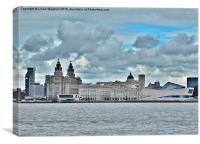 Liverpool Pier Head. , Canvas Print