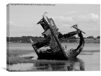 Decommissioned Trawler., Canvas Print