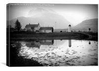 Misty Ben Nevis Reflections., Canvas Print