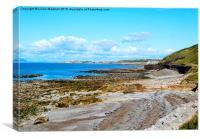 Cumbrian Coastline. , Canvas Print