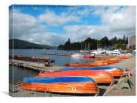Boats at Bowness., Canvas Print