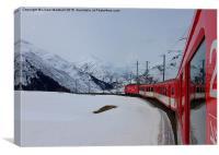 The Glacier Express , Canvas Print