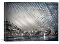 Liege Guillemins TGV Railway Station., Canvas Print