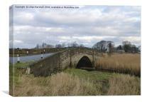 The Road bridge at Thurnham, Canvas Print