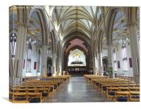 Blackburn Cathedral., Canvas Print
