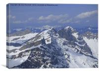 Titlis Mountain Range. , Canvas Print