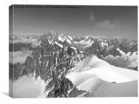 Graian Alps. Chamonix., Canvas Print