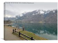 Lago di Poschiavo -Switzerland., Canvas Print