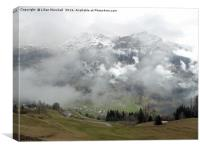 Misty Swiss Alps. , Canvas Print