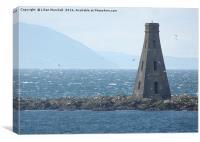 The Beacon on Horse Island. , Canvas Print