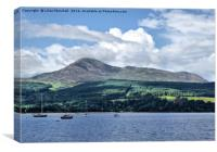 Goatfell Isle of Arran., Canvas Print