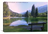 Mountain Resort of Chamonix., Canvas Print