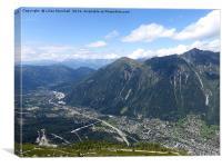 Mountain Roads at Chamonix. , Canvas Print