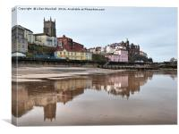 Cromer Church from the beach., Canvas Print
