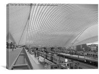 Liege -Guillemins Railway Station., Canvas Print