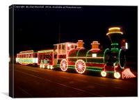 Blackpools Heritage Tram. , Canvas Print