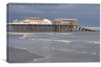 Cromer Pavillion Theatre and Lifeboat Station, Canvas Print