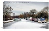 The Frozen Lancaster Canal, Canvas Print