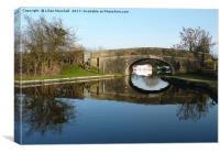 Lancaster Canal at Garstang. , Canvas Print