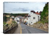 Down to the village of Staithes, Canvas Print