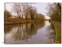 Lancaster Canal, Garstang. , Canvas Print