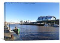 Gateshead Sage and Millenium Bridge. , Canvas Print