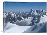 Mont Blanc., Canvas Print