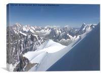 Aiguille Du Midi Chamonix, Canvas Print