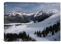 Titlis Mountain Range., Canvas Print