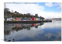 Tobermoray waterfront. , Canvas Print