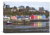 Tobermoray waterfront. , Canvas Print