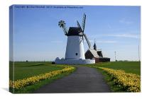 Lytham Windmill., Canvas Print