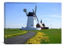 Lytham Windmill and Lifeboat Station., Canvas Print