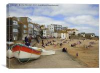 St Ives Promenade and Harbour Beach. , Canvas Print