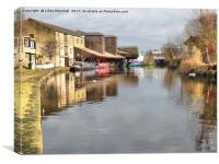 Eanam Wharf . Blackburn. , Canvas Print