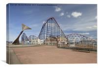 Blackpool South Promenade. , Canvas Print