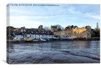 Fishermens Cottages , Conwy. , Canvas Print