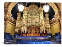 Leeds Town Hall Organ, Canvas Print