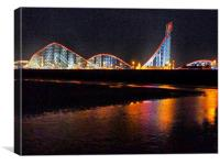 Pepsi Max Rollercoaster, Canvas Print